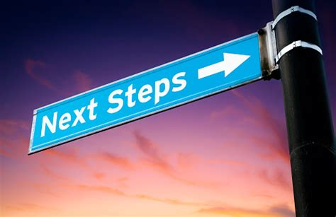Next Steps Road Sign Stock Photo - Download Image Now - iStock
