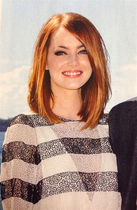Emma Stone Shoulder Length Hair