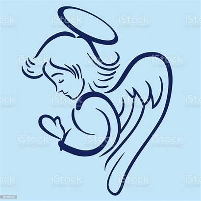 Angel Praying Clip Vector Clipart Vectors Heaven