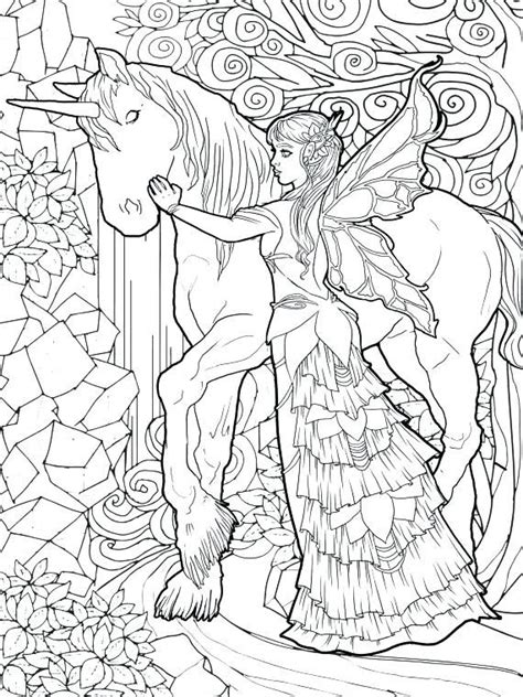 unicorn coloring pages  adults  coloring pages  kids fairy coloring book unicorn