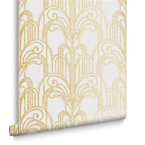 deco gold deco gold and pearl wallpaper grahambrownuk