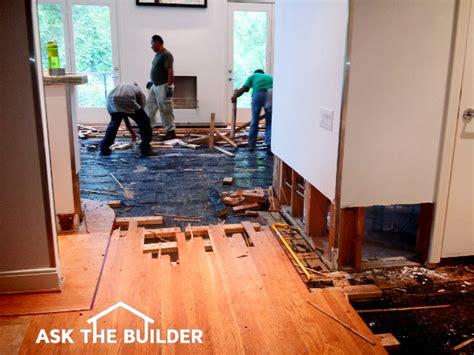 Repairing Flood Damaged Floor  Ask The Builder