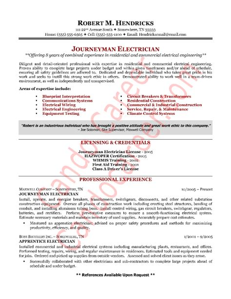 electrical contractor resume resume and cover letter