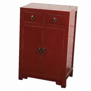 Meuble Chinois Rouge : meuble d 39 entr e chinois rouge meubles ~ Teatrodelosmanantiales.com Idées de Décoration