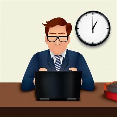 Working Vector Laptop Businessman Clipart Outlook Tutorial