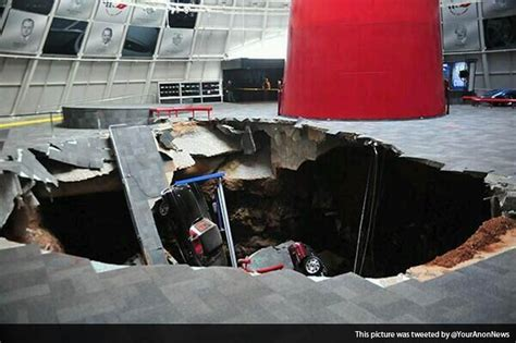 corvette museum sinkhole location sinkhole swallows six corvettes