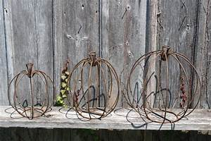 3 Sizes to Decorate Using Metal Pumpkins Fall Decor