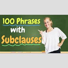 German Lesson (316)  100 Phrases With Subclauses  Subjunktionen Und Nebensätze  B1b2 Video