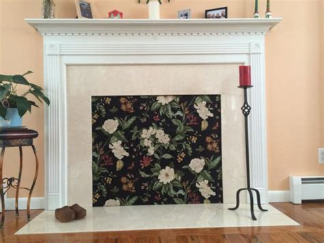 decorative fireplace covers fireplace covers saving money insulated decorative