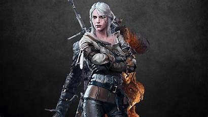 Ciri Geralt 1080p Witcher Wallpapers Freya Allan
