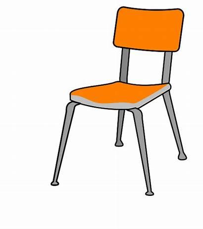 Chair Clipart Student Clip Cartoon Desk Table