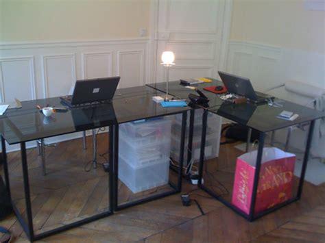 dessus de bureau en verre dessus de table en verre trempe sur mesure verre securit