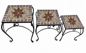 Gartenmöbel 3er Set : 3er set blumenhocker beistelltische quadratisch im mosaik design gartenm bel tische ~ Indierocktalk.com Haus und Dekorationen