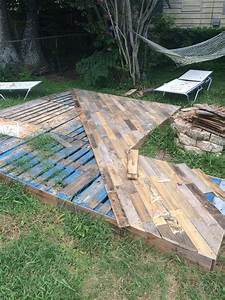 patio deck out of 25 wooden pallets front porches With pallet patio floor