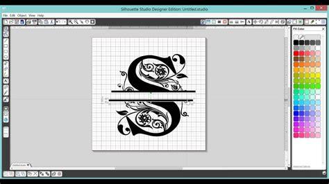 split letter monogram  silhouette studio software youtube