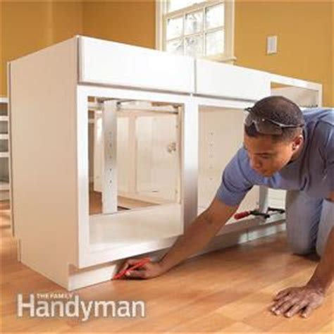 diy install kitchen cabinets how to install kitchen cabinets the family handyman 6813