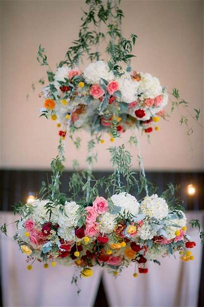 Chandelier Floral Party Diy Hanging Flower Chandeliers