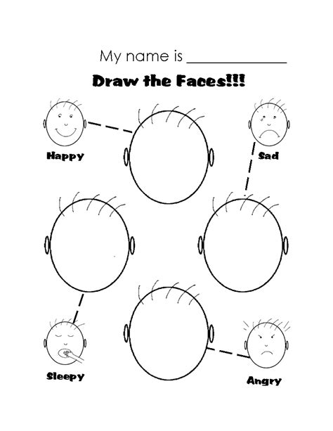 printable worksheets on emotions google search draw