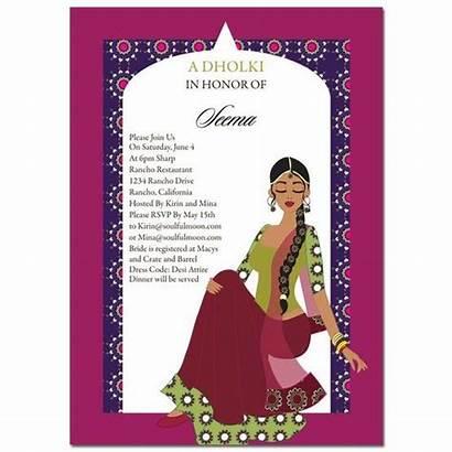 Shower Bridal Indian Dholki Invitation Invitations Diva
