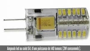 Ampoule G4 Led : ampoule led g4 3w 360 140 lm 3000k 4000k youtube ~ Edinachiropracticcenter.com Idées de Décoration