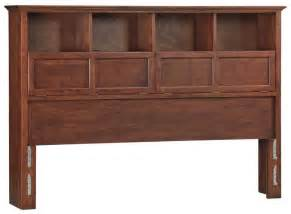 Queen Cherry Headboard by Whittier Wood Mckenzie Bookcase Headboard