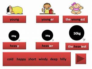 Degrees Of Adjectives Chart Comparison Of Adjectives Online Presentation