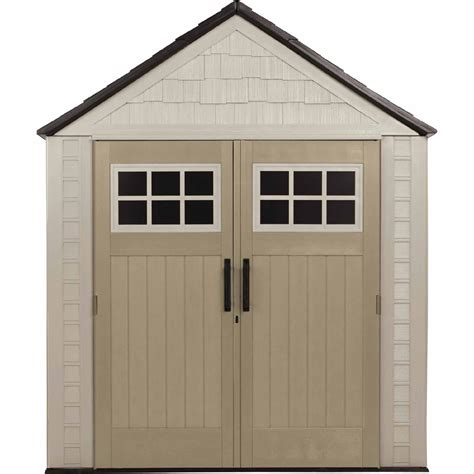 rubbermaid storage sheds at sears rubbermaid outdoor resin storage shed 7 x 7 lawn