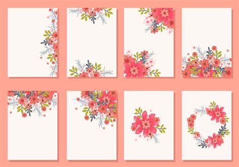floral wedding invitation card vectors