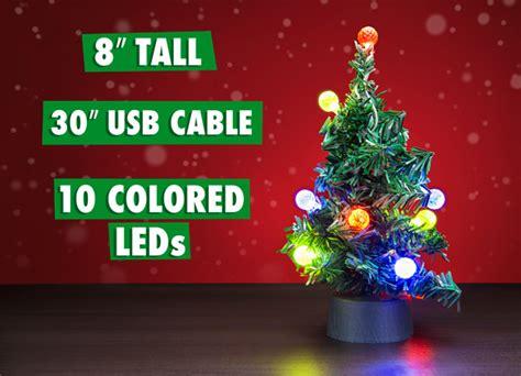 usb mini led christmas tree tiny tinsel tree powered  usb