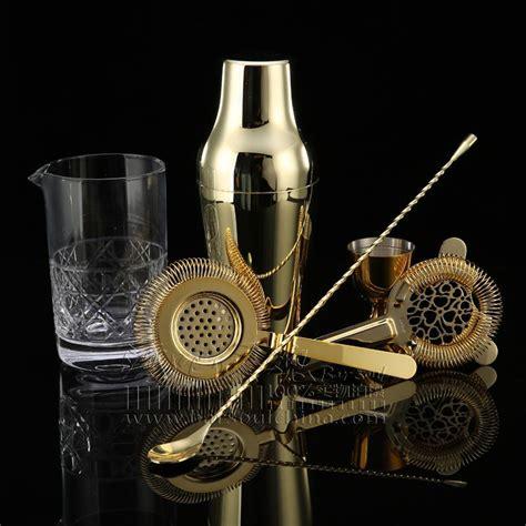 gold bar tools 2018 gold shaker whiskey cocktail set bartender tool kit 1255