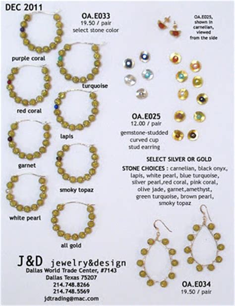 jewelry design brand new dec 2011 line sheets