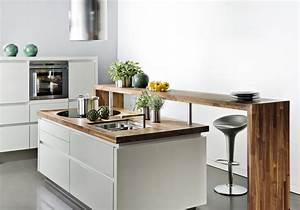 ilot de cuisine decouvrez notre selection elle decoration With table de salle a manger contemporaine pour petite cuisine Équipée
