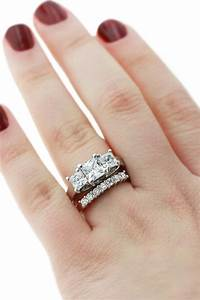 One Diamond Wedding Band 3 Engagement Rings MiaDonna