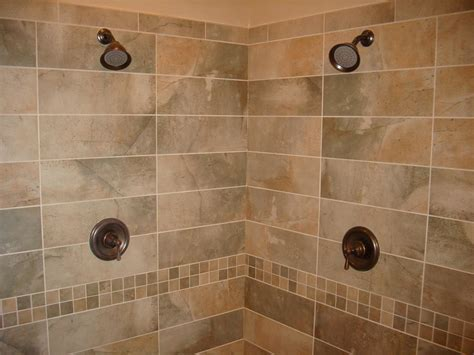 pictures of new tile in a bathroom shower studio