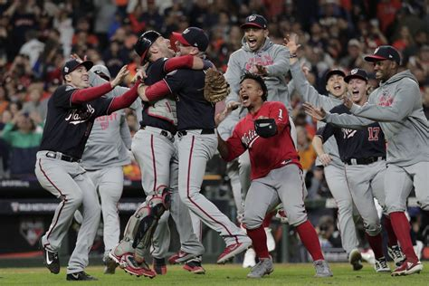 nationals top astros  game   win st world series