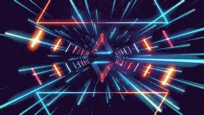 Animated Neon Dark Glow Gifs Trippy Night