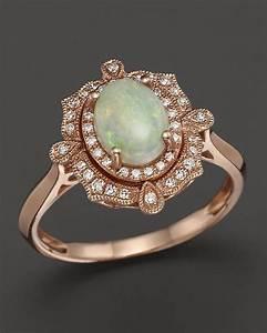 bloomingdales opal and diamond antique inspired ring in With bloomingdales wedding rings