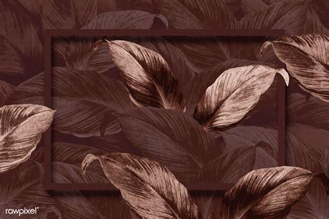 premium vector  brown tropical leaves patterned