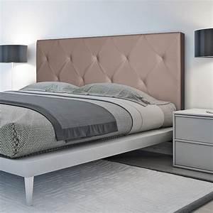 Tete De Lit Moderne : t te de lit capitonn e pvc taupe 160x58 cm accessoires maison et d ~ Preciouscoupons.com Idées de Décoration
