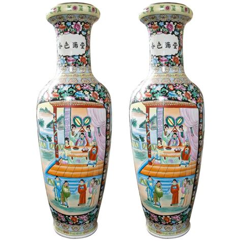 Large Floor Vases by Large Pair Of Porcelain Floor Vases For Sale At