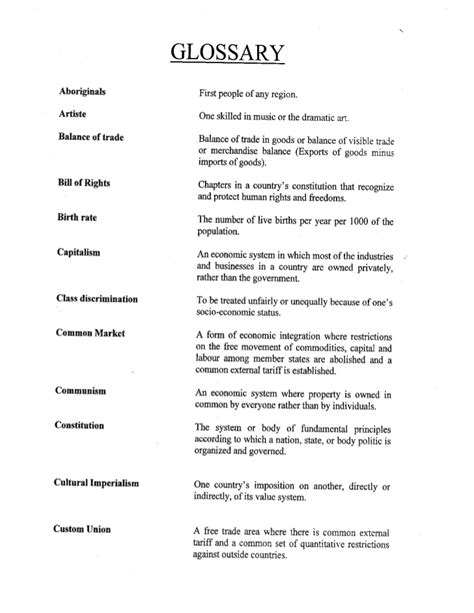 page terms glossary of terms sixth form