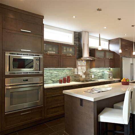 cuisine contemporaine en bois massif cuisines beauregard cuisine réalisation 308 cuisine
