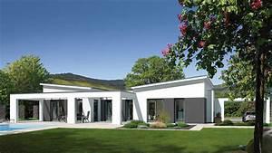 Okal Haus Typ 117 : fingerhut bungalow einfamilienhaus flachdach wei verputzt teilfl chen farblich abgesetzt ~ Orissabook.com Haus und Dekorationen