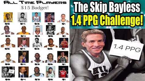 the skip bayless challenge can you average 1 4 ppg legends squad builder nba 2k17 my league