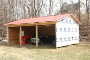 Lean To Shed Plans 8x8 by Building A Pole Barn 171 Redneck Diy