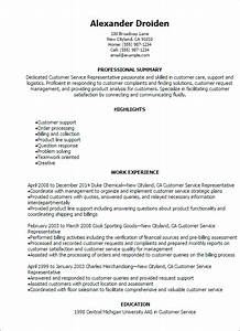 1 customer service representative resume templates try for Customer service resume summary