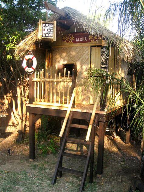 Small Tiki Hut by Small Tiki Playhouse Tiki Hut Playhouse Polynesian House