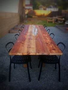 37 best thinking about farm tables for the backyard images for Barnwood outdoor table