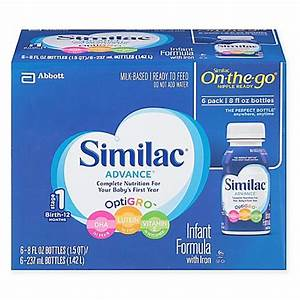 Similac Advance Ready To Feed 6 Pack 8 Oz Bottles
