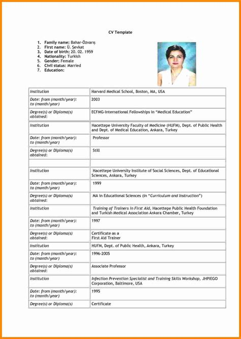 Cv And Resume Format by 7 Cv Format Pdf 2015 Theorynpractice